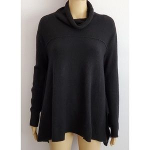 Free People Cowl Neck Black Sweater Size Medium